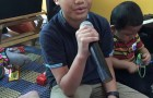 A budding singer with a very nice voice…