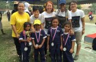 The football champions for Under-8 girls team, wearing our sponsored jerseys…congratulations girls!!