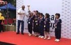 What joy!!! Yaay…we are the winners for the Under-12 girls football :)