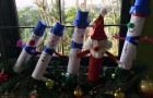 Santa surrounded by his snowman friends -)